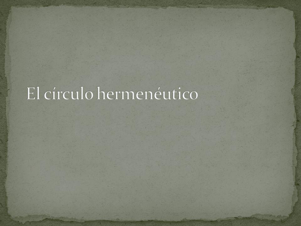 El círculo hermenéutico