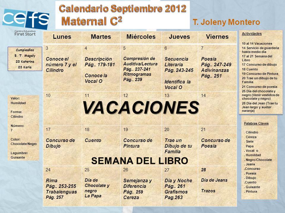 Calendario Septiembre 2012