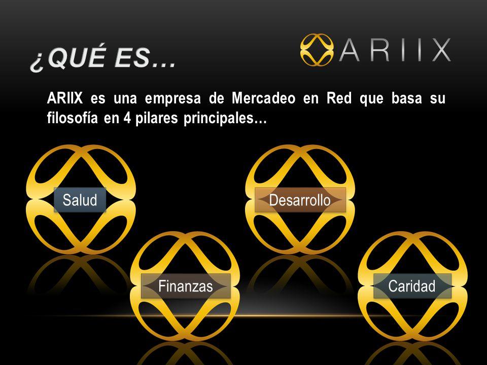 ¿Qué es… ARIIX es una empresa de Mercadeo en Red que basa su filosofía en 4 pilares principales… Salud.