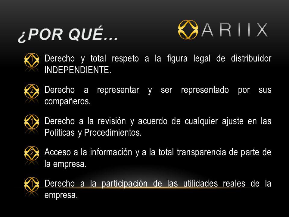 ¿Por qué… Derecho y total respeto a la figura legal de distribuidor INDEPENDIENTE. Derecho a representar y ser representado por sus compañeros.
