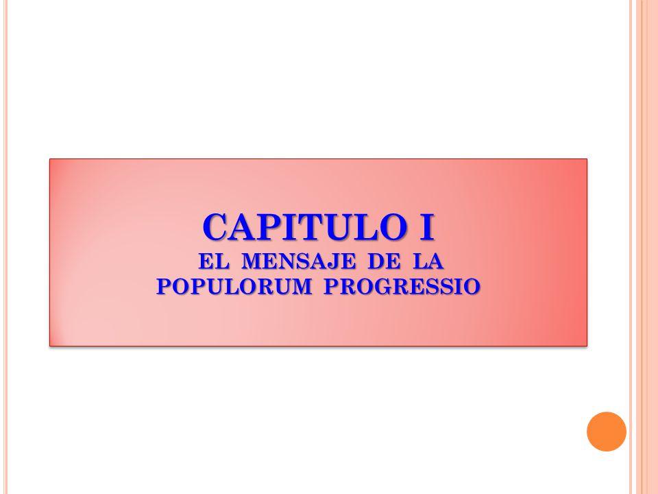 CAPITULO I EL MENSAJE DE LA