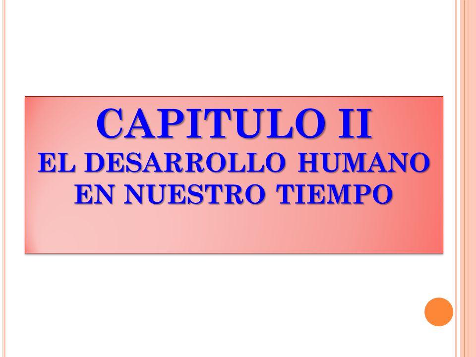 CAPITULO II EL DESARROLLO HUMANO