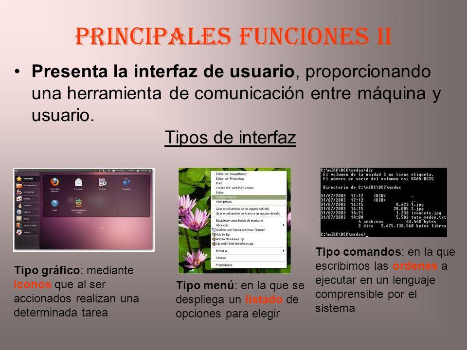 Principales funciones II