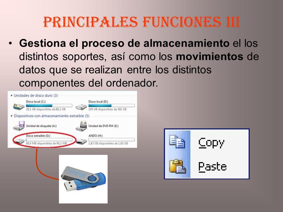 Principales funciones III
