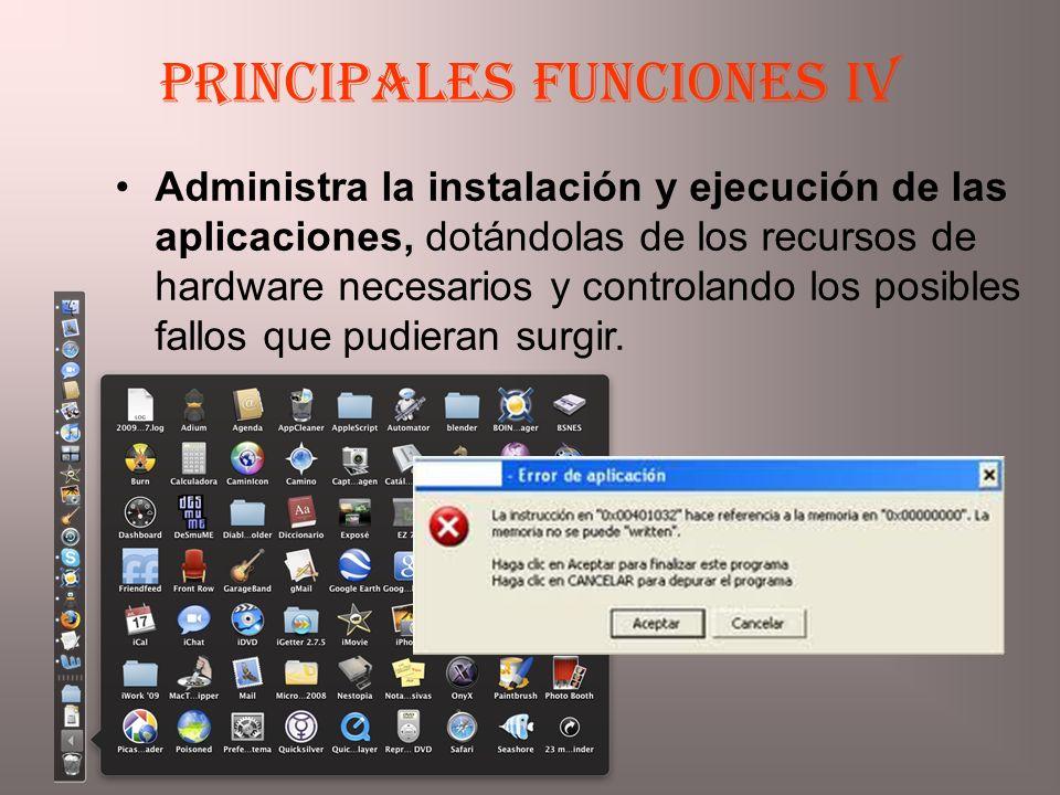 Principales funciones IV