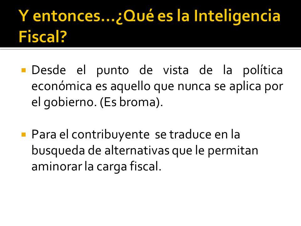 Y entonces…¿Qué es la Inteligencia Fiscal