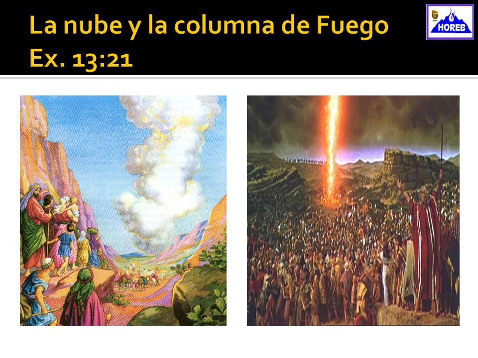 La nube y la columna de Fuego Ex. 13:21