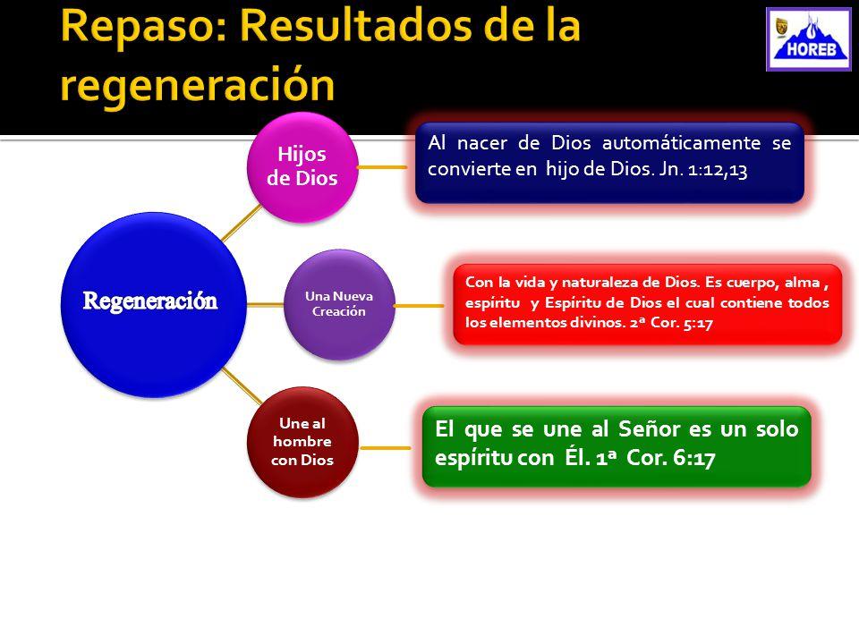 Repaso: Resultados de la regeneración