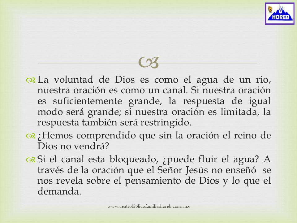 ¿Hemos comprendido que sin la oración el reino de Dios no vendrá
