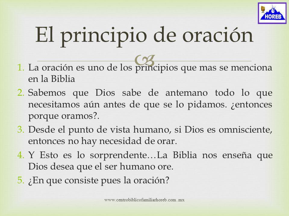 El principio de oración