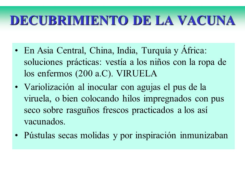 DECUBRIMIENTO DE LA VACUNA