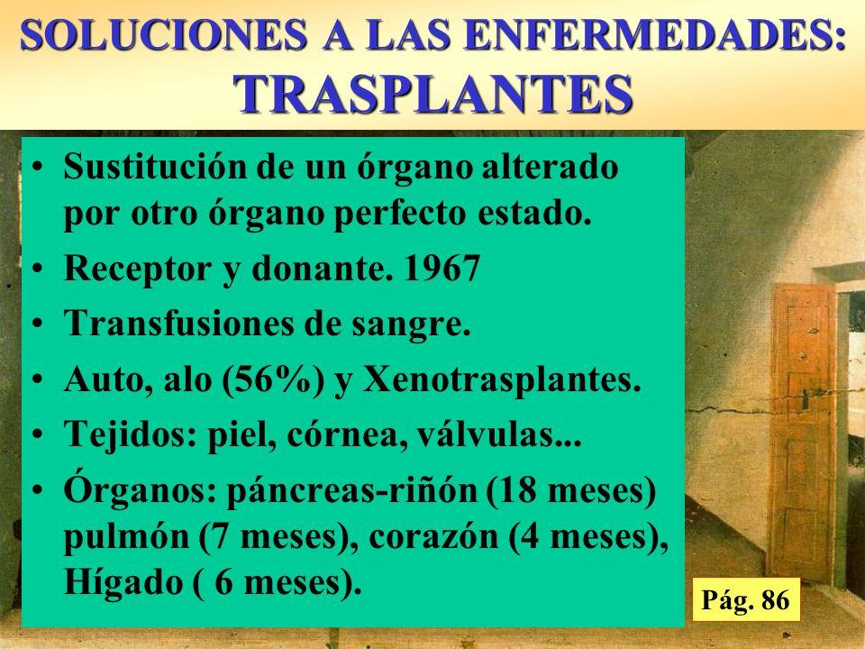 SOLUCIONES A LAS ENFERMEDADES: TRASPLANTES