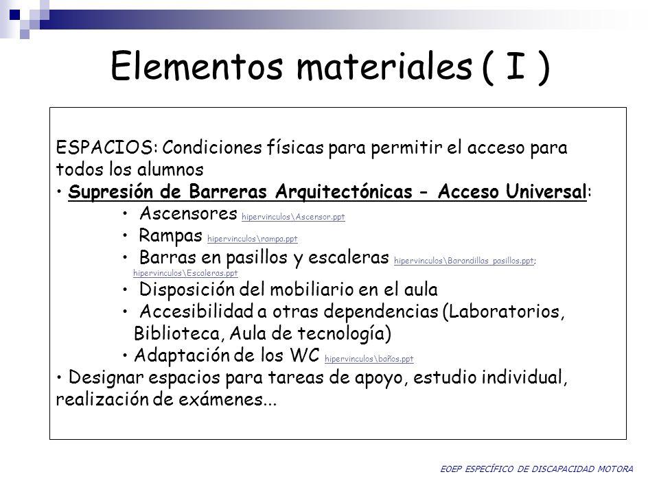 Elementos materiales ( I )