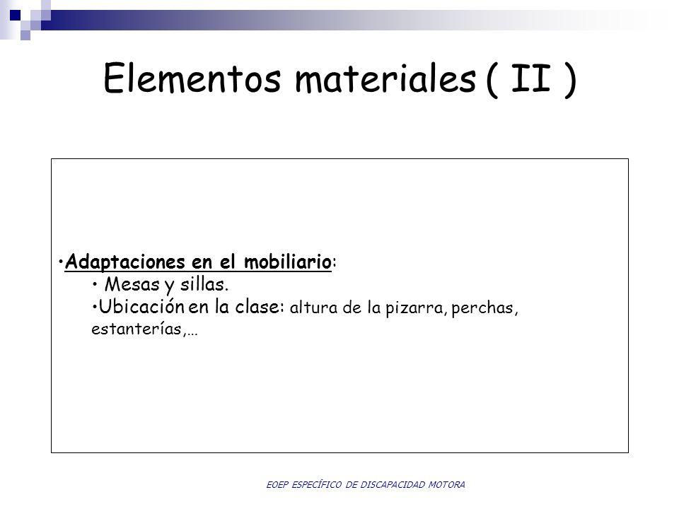 Elementos materiales ( II )