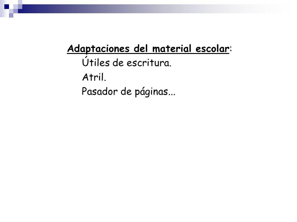 Adaptaciones del material escolar: