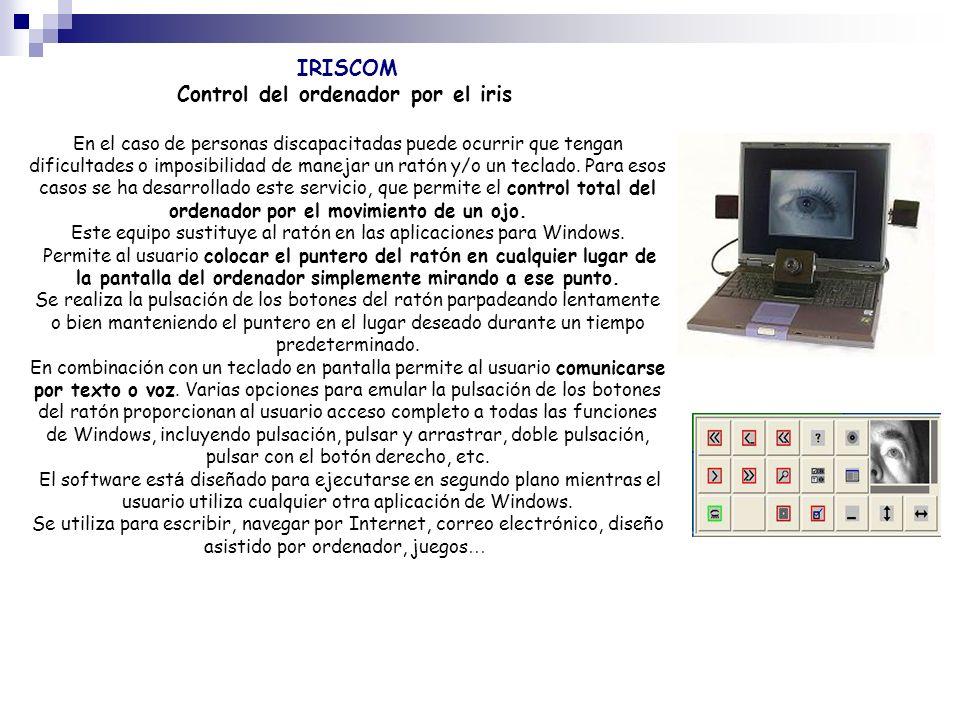 Control del ordenador por el iris
