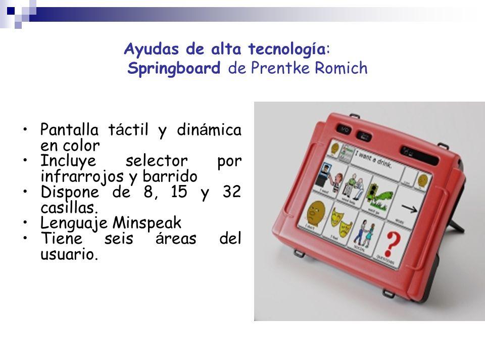 Ayudas de alta tecnología: Springboard de Prentke Romich