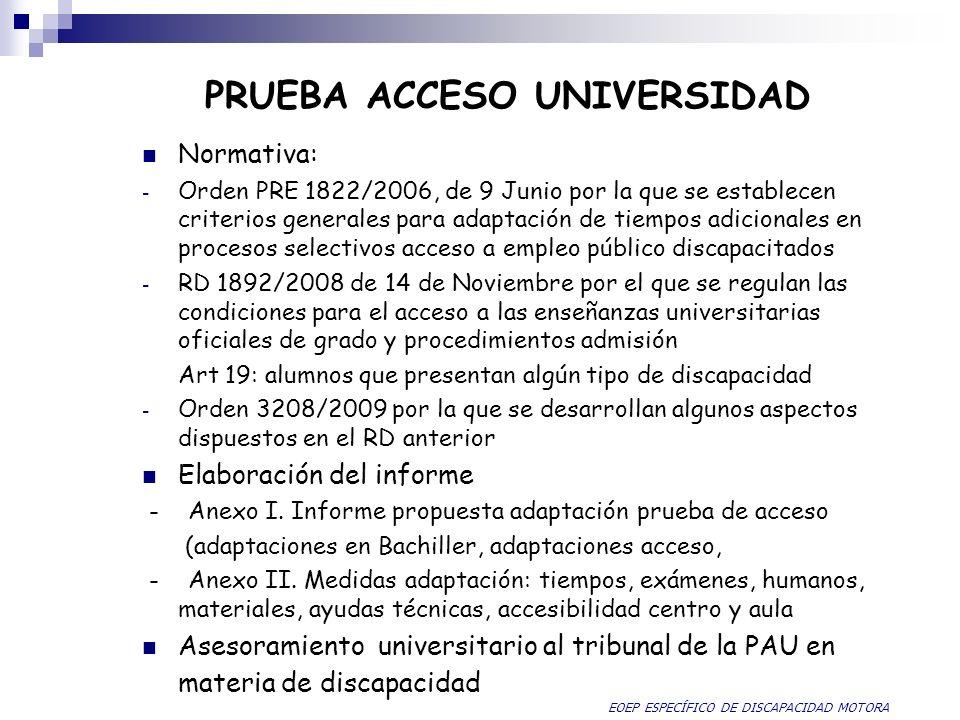 PRUEBA ACCESO UNIVERSIDAD