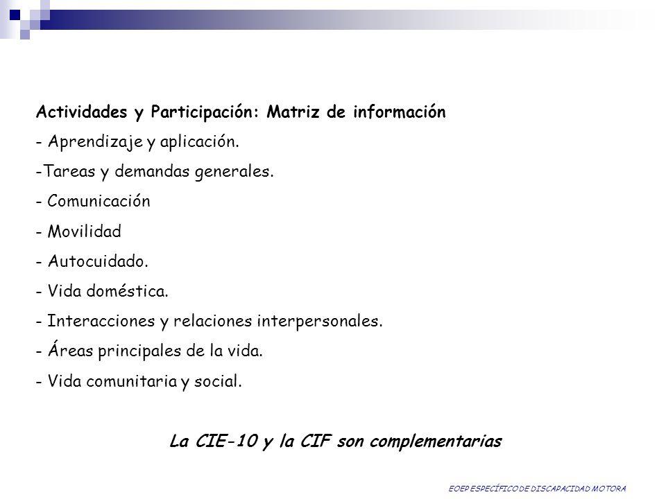 La CIE-10 y la CIF son complementarias
