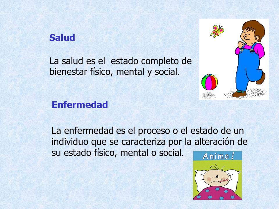 SaludLa salud es el estado completo de bienestar físico, mental y social. Enfermedad.