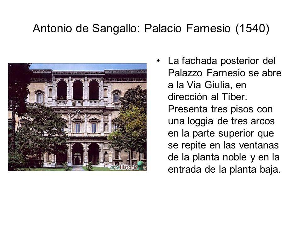 Antonio de Sangallo: Palacio Farnesio (1540)