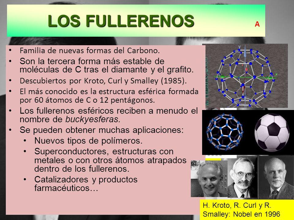 LOS FULLERENOS A Familia de nuevas formas del Carbono.