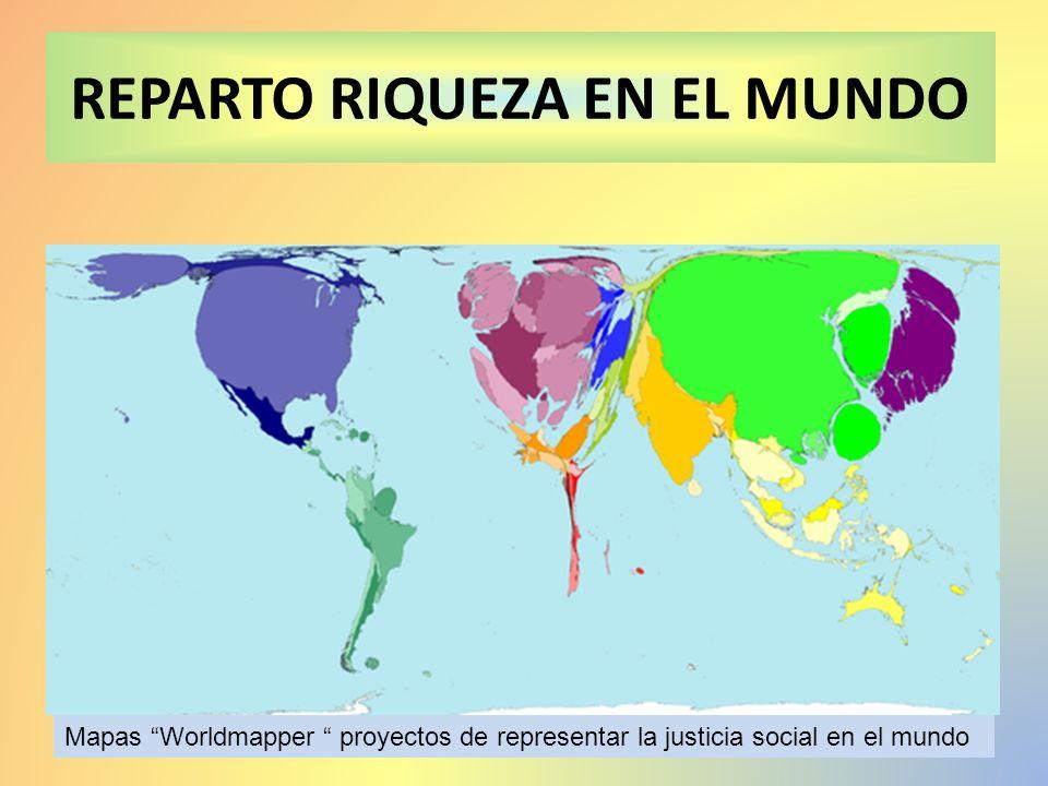 REPARTO RIQUEZA EN EL MUNDO
