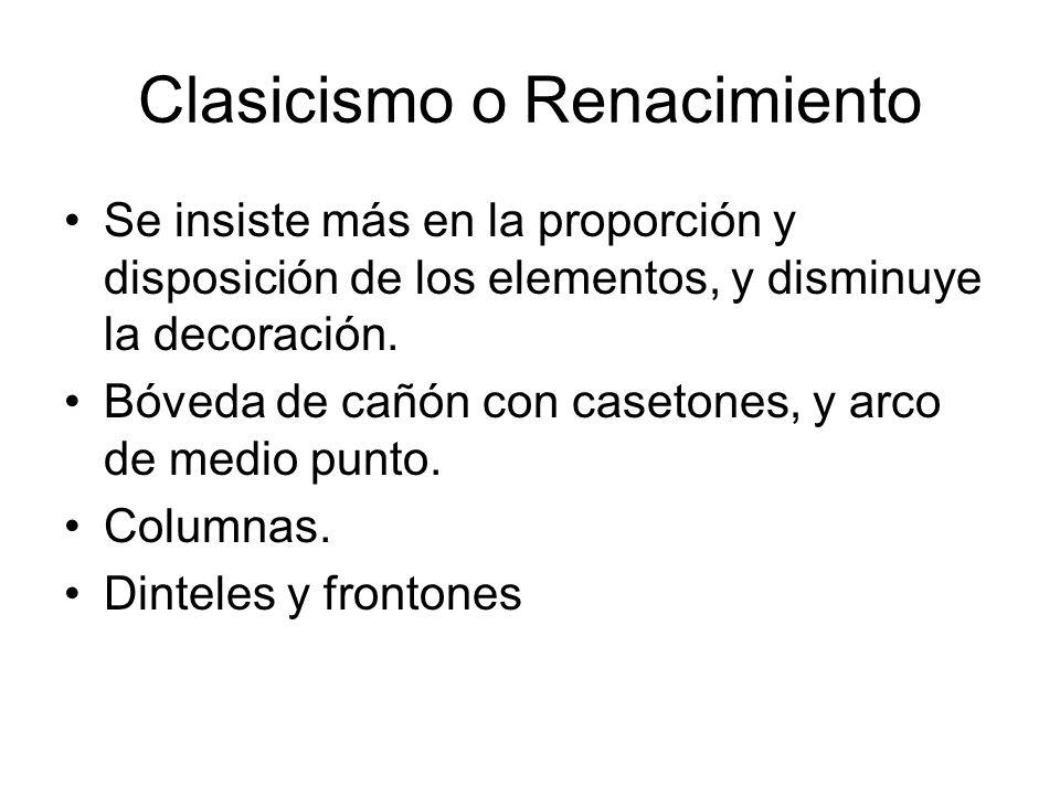 Clasicismo o Renacimiento