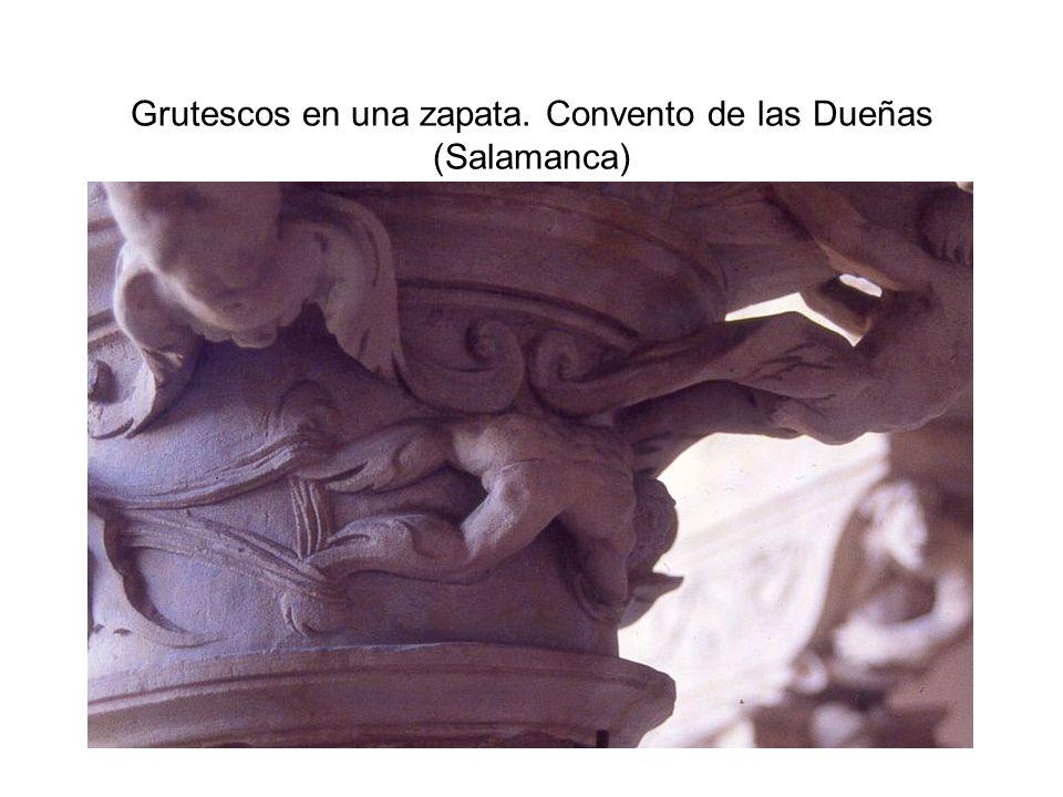 Grutescos en una zapata. Convento de las Dueñas (Salamanca)