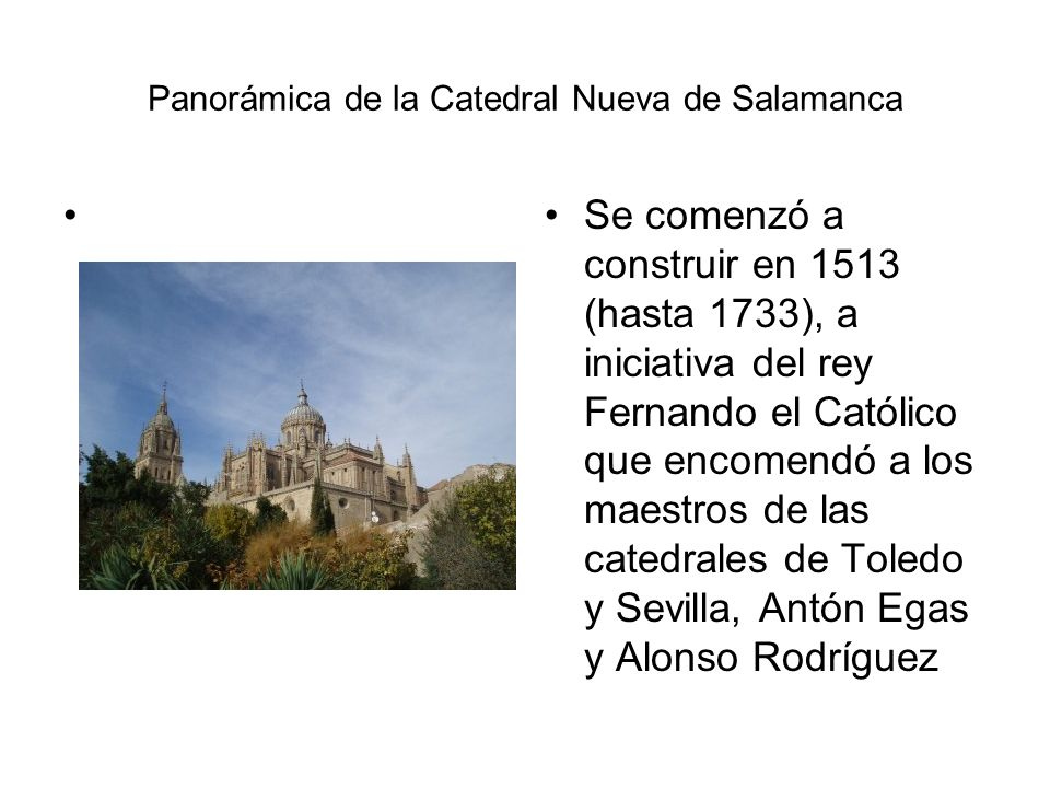 Panorámica de la Catedral Nueva de Salamanca