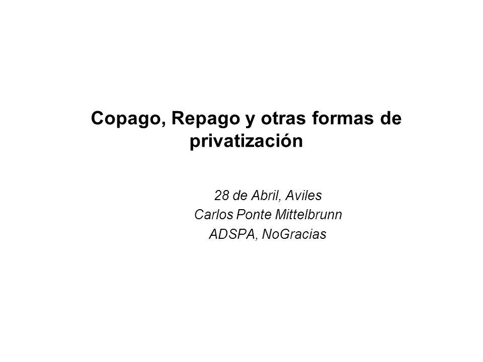 Copago, Repago y otras formas de privatización