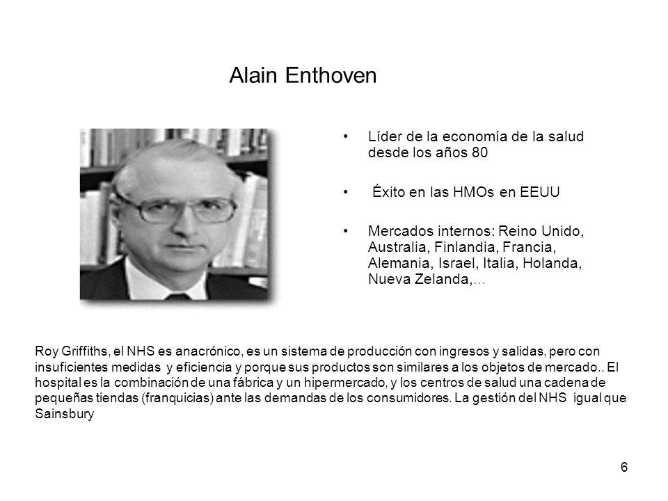 Alain Enthoven Líder de la economía de la salud desde los años 80