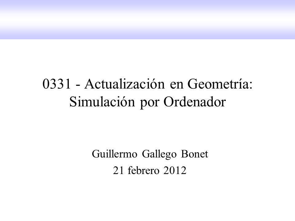 0331 - Actualización en Geometría: Simulación por Ordenador