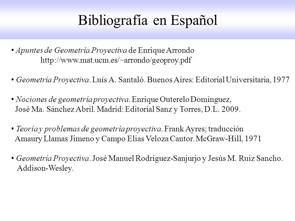 Bibliografía en Español