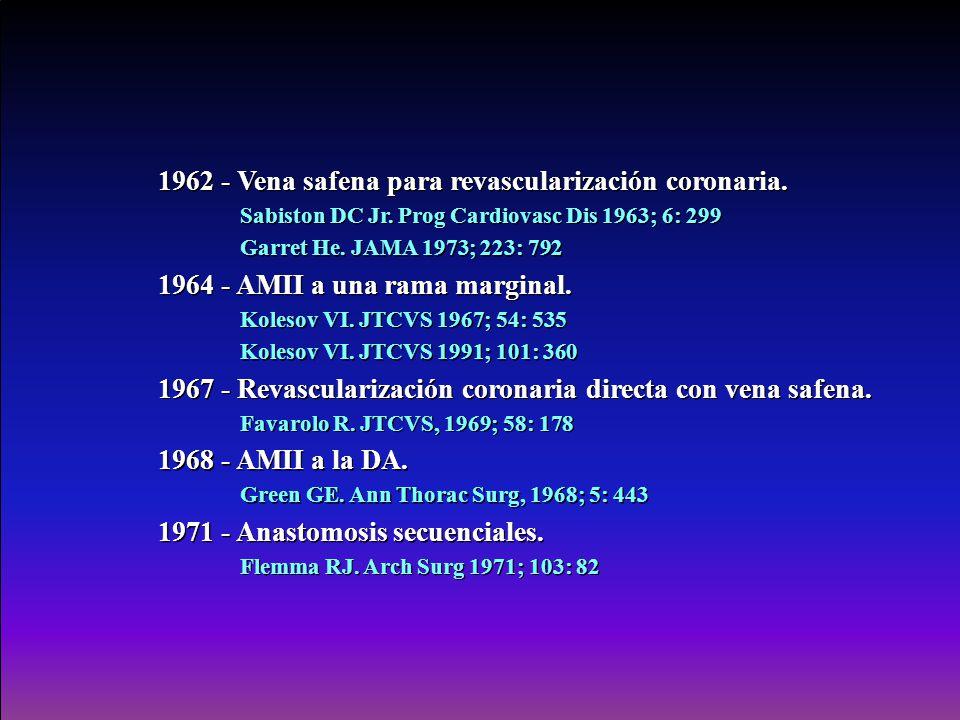 1962 - Vena safena para revascularización coronaria.