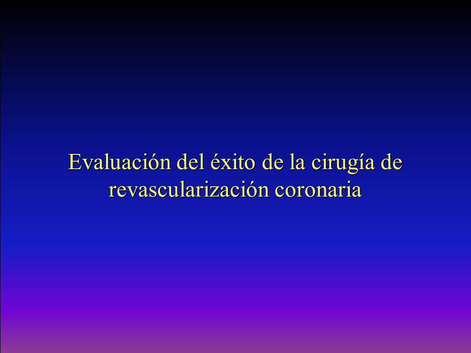 Evaluación del éxito de la cirugía de revascularización coronaria