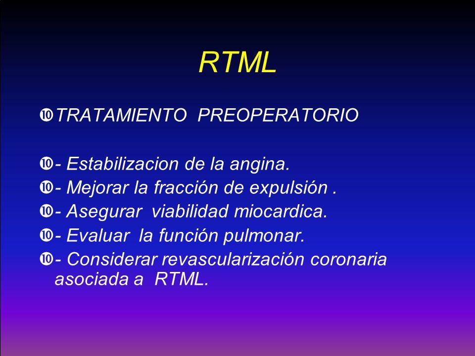 RTML TRATAMIENTO PREOPERATORIO - Estabilizacion de la angina.