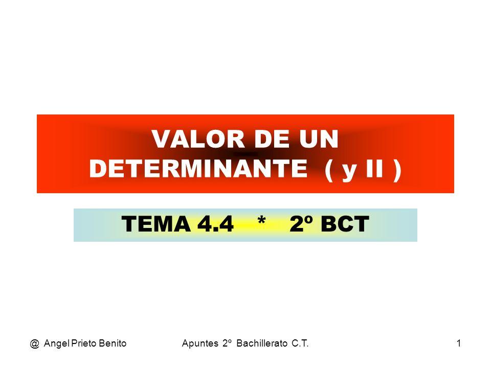 VALOR DE UN DETERMINANTE ( y II )