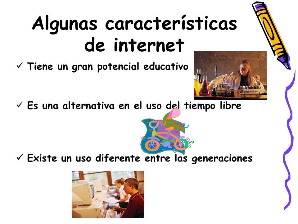Algunas características de internet