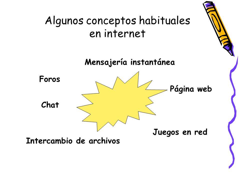 Algunos conceptos habituales en internet