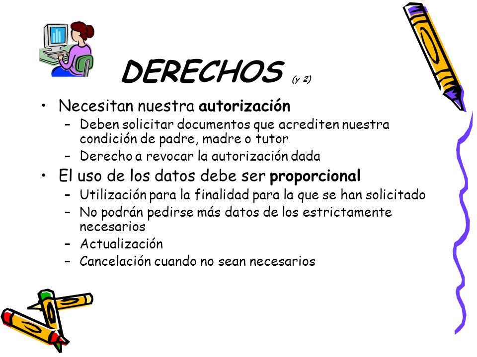 DERECHOS (y 2) Necesitan nuestra autorización