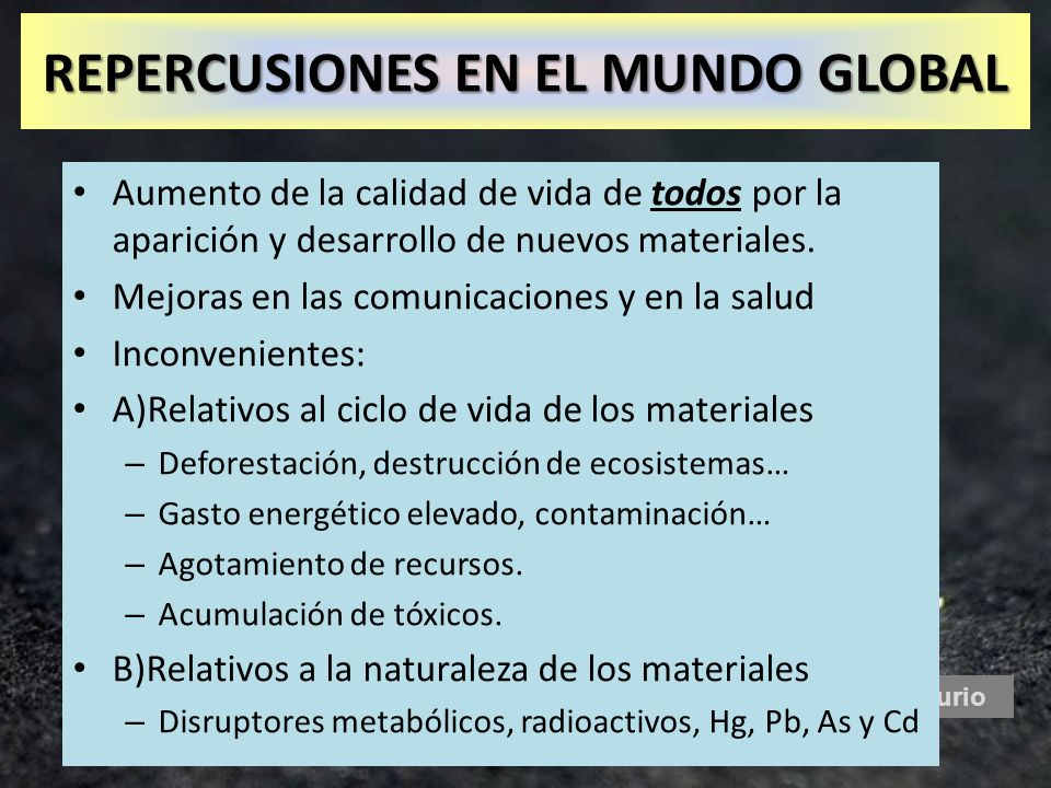 REPERCUSIONES EN EL MUNDO GLOBAL