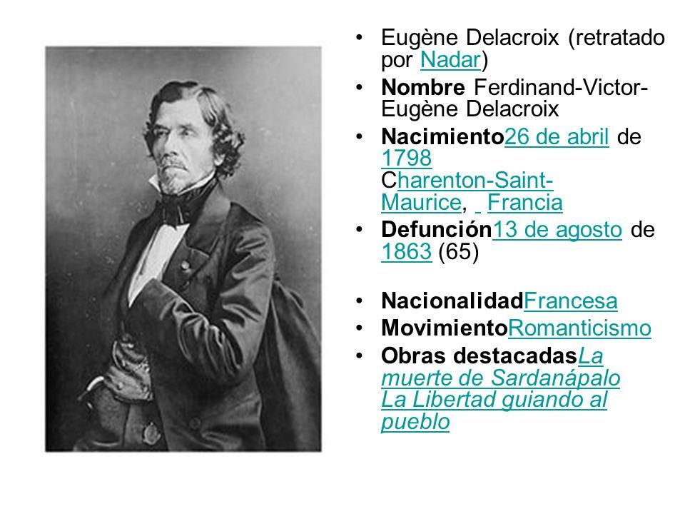 Eugène Delacroix (retratado por Nadar)