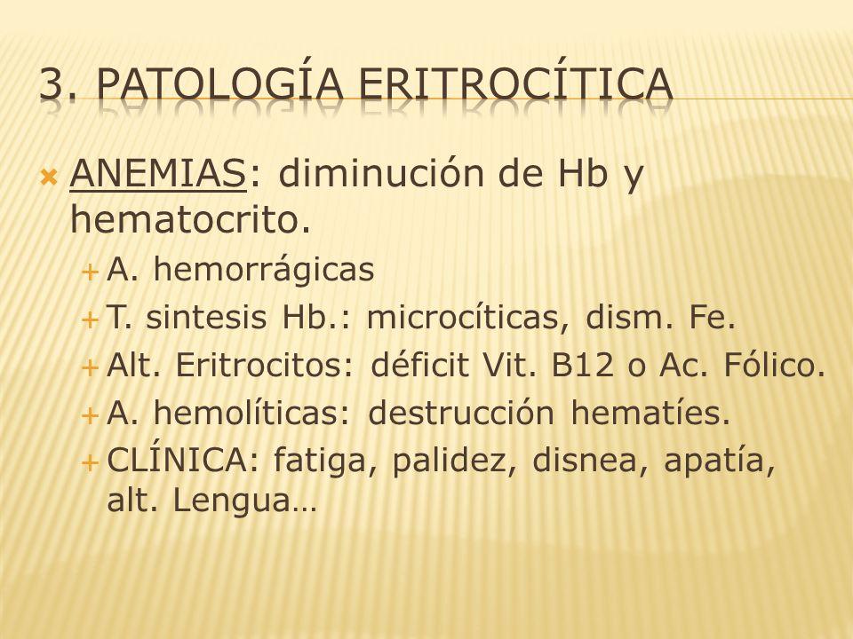 3. Patología eritrocítica