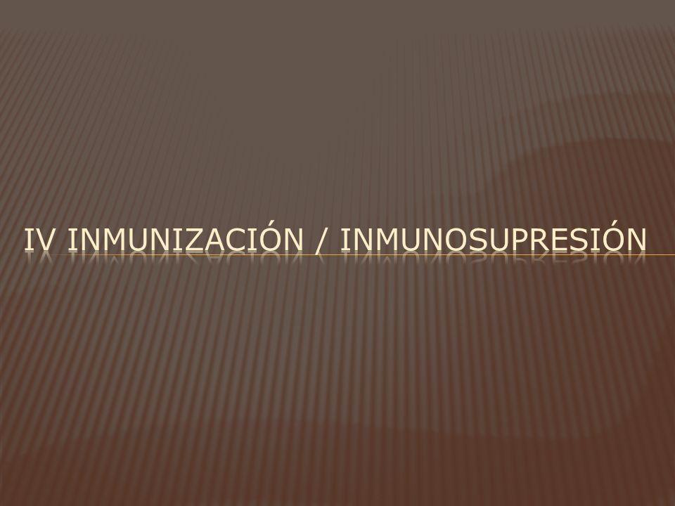 Iv inmunización / INMUNOSUPRESIÓN