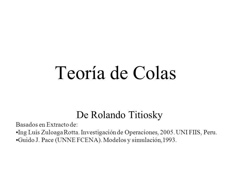 Teoría de Colas De Rolando Titiosky Basados en Extracto de: