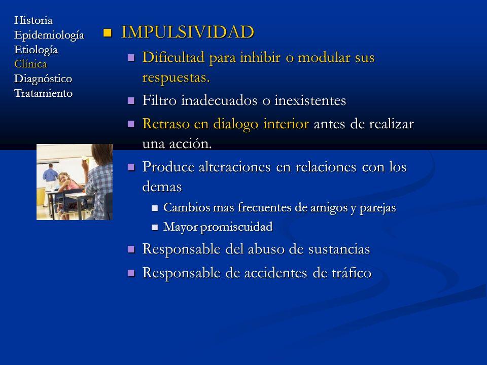 IMPULSIVIDAD Dificultad para inhibir o modular sus respuestas.
