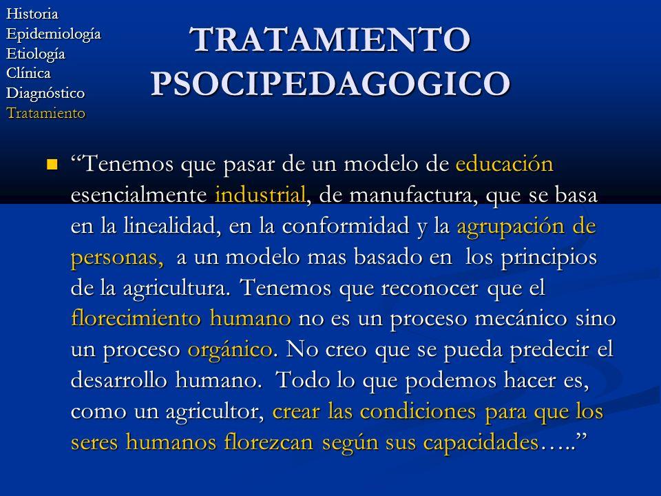 TRATAMIENTO PSOCIPEDAGOGICO