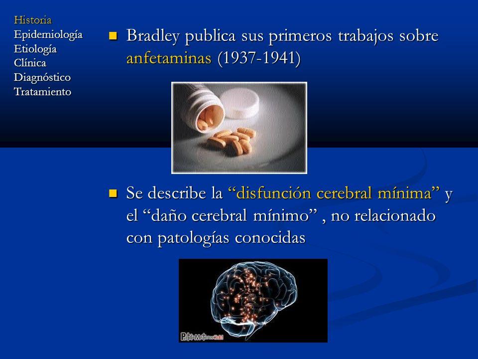Bradley publica sus primeros trabajos sobre anfetaminas (1937-1941)