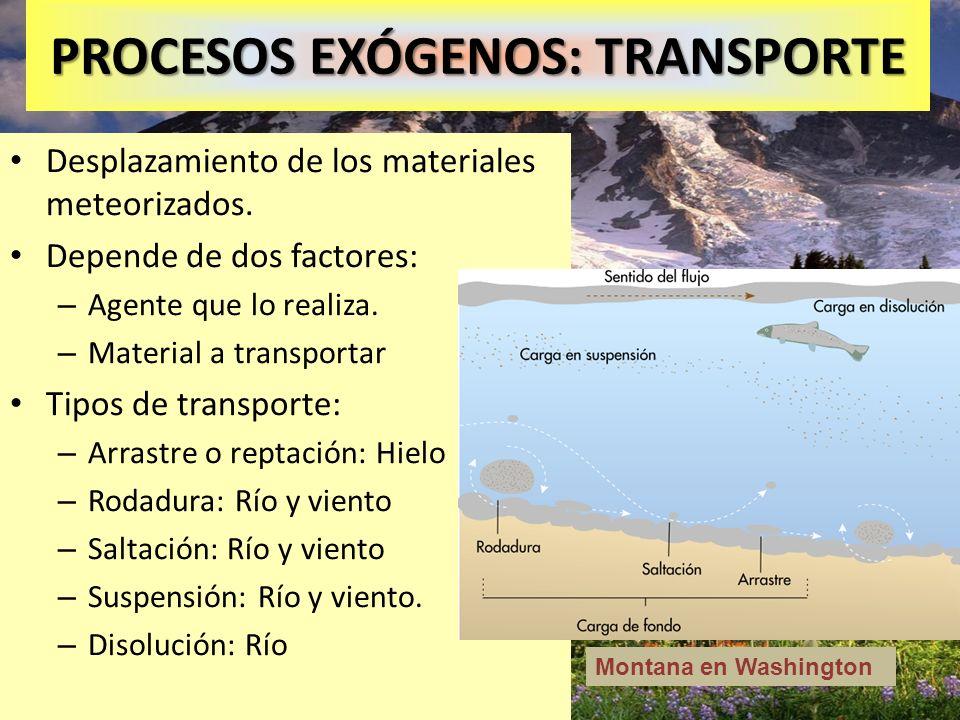 PROCESOS EXÓGENOS: TRANSPORTE